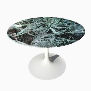 Französischer Couchtisch aus Italienischem Verde Alpi Marmor von Eero Saarinen für Knoll International, 1960er