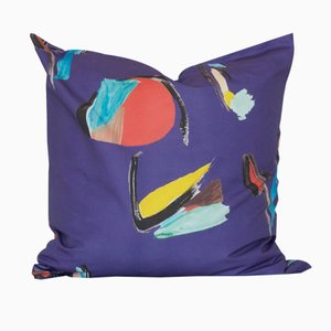 Cuscino Purple Pod quadrato di Naomi Clark per Fort Makers