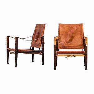 Mid-Century Safari Stühle aus Eschenholz von Kaare Klint für Rud Rasmussen, 2er Set