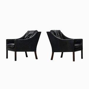 Modell 2207 Sessel von Børge Mogensen für Fredericia Stolefabrik, 2er Set