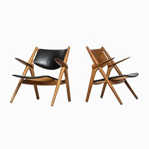 CH-28 Easy Chairs by Hans Wegner for Carl Hansen & Søn, Set of 2