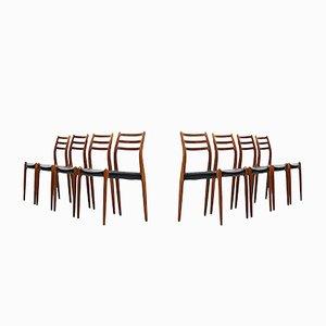 Esszimmerstühle von Niels O. Møller für J.L Møllers Møbelfabrik, 8er Set