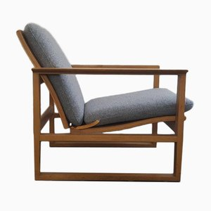 Mid-Century 2256 Oak Lounge Chair by Børge Mogensen for Fredericia