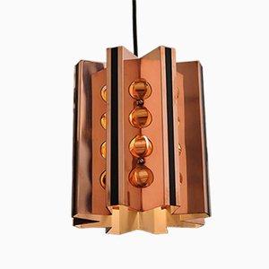 Lámpara colgante danesa vintage de cobre