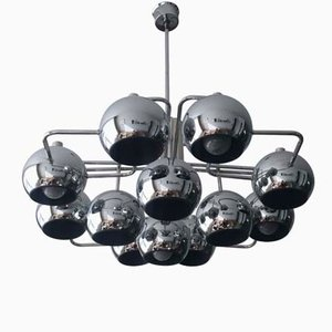 Mid-Century Large Belgian Chandelier from Boulanger