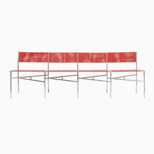 Coral Batyline Meeting Chairs by Laurence Humier, Set of 4