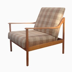 Poltrona reclinable danesa Mid-Century de haya