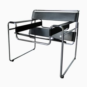 Vintage German Bauhaus Wassily Lounge Chair by Marcel Breuer for Knoll