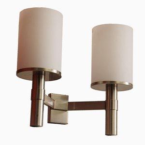 Lámpara de pared Art Decó de Jean Perzel, años 40