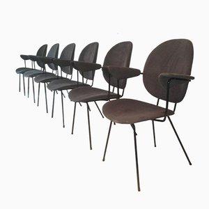 Sedie da scrivania 202 Kembo di Gispen, Olanda, anni '50, set di 6