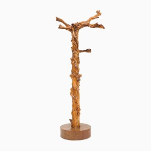 French Grape Wood Tree Coat Rack, 1930s