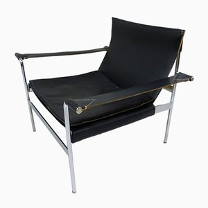 German D99 Black Leather Lounge Chair by Hans Könecke for Tecta, 1965