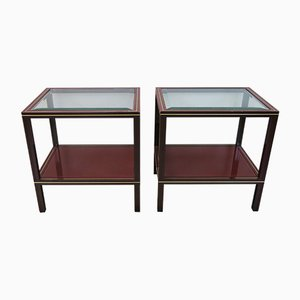 French Side Tables by Pierre Vandel, 1970s, Set of 2