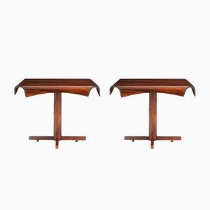 Tables d'Appoint par Jorge Zalszupin pour L'Atelier, Brésil, 1965, Set de 2