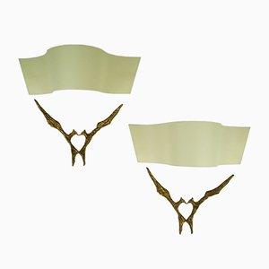 Amour Toujours Bronze Wandlampen von Felix Agostini, 1965, 2er Set