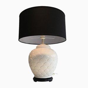 Lampe Blanche en Céramique, 1970s
