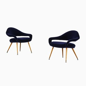 Model DU 55 P Lounge Chairs by Gastone Rinaldi, Set of 2