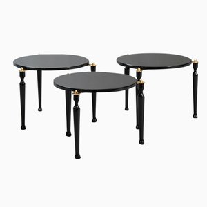 Mid-Century Stackable Italian Side Tables, Set of 3