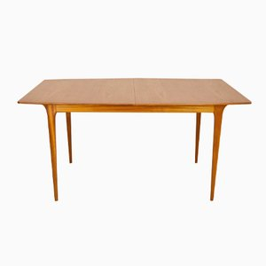 Mid-Century Extendable Boat-Shaped Teak Dining Table from McIntosh