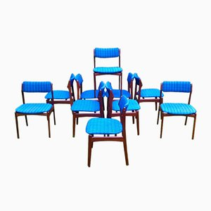 Chaises de Salon OD49 de Erik Buch pour Poul Dinesen, 1970s, Set de 10