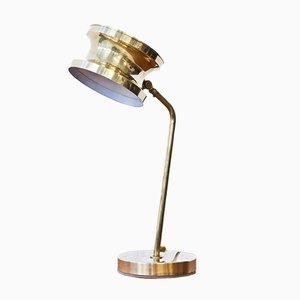 Lámpara de mesa sueca de latón de Tyringe Konsthantverk, años 60