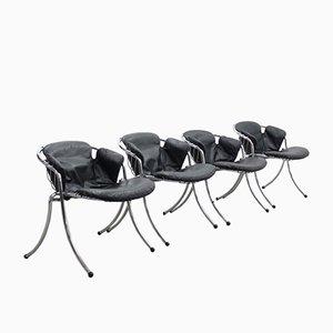 Chaises de Salon Lynn par Gastone Rinaldi pour Rima, Set de 4