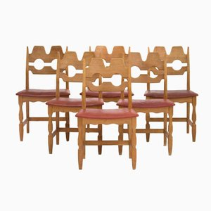 Oak Dining Chairs by Henning Kjærnulf, 1960s, Set of 6