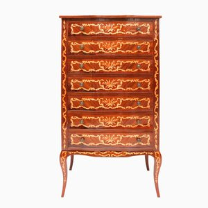 Louis XV Style Marquetry Lingerie Chest, 1970s