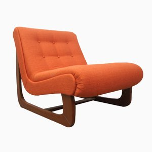 Vintage German Orange Lounge Chair, 1970s