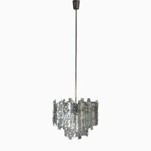 Austrian Crystal Ice Glass Chandelier from Kalmar, 1970