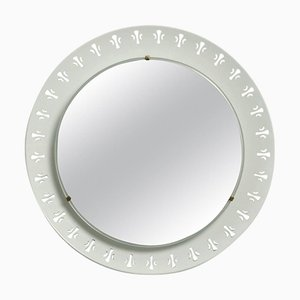 German Round Illuminated Wall Mirror from Hillebrand Leuchten, 1970s