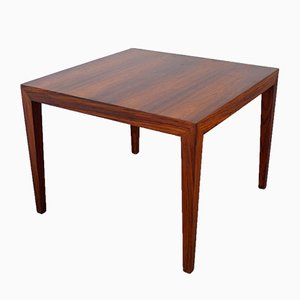 Danish Square Rosewood Coffee Table by Severin Hansen for Haslev, 1960s