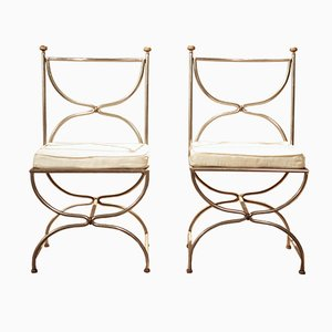 X-Base Chairs from Maison Jansen, Set of 2
