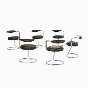 Chrome & Skai Chairs by Giotto Stoppino, 1970s, Set of 6