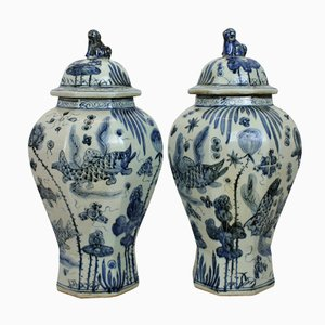 Antike Chinesische Vasen, 2er Set