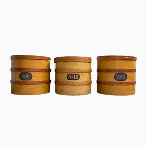 Scatole per farmacia antiche in legno, set di 3