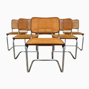 Italian Cesca Chairs by Marcel Breuer for Gavina, 1985, Set of 6
