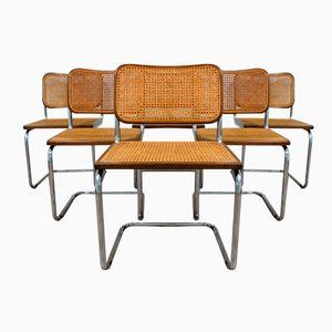 Italian Cesca Chairs by Marcel Breuer for Gavina, 1985, Set of 6