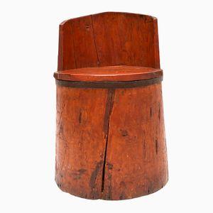 Chaise de Fermier Antique en Bois