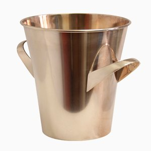 German Silver-Plated Champagne Ice Bucket by Wilhelm Wagenfeld for WMF, 1950s