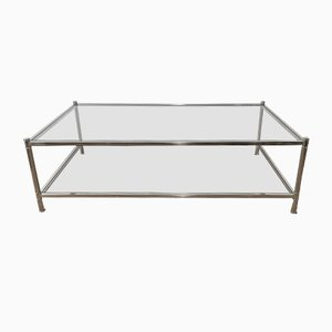 Grande Table Basse en Chrome de Roche Bobois, 1970s