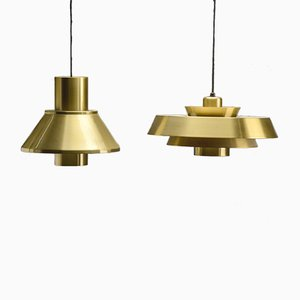 Nova & Life Pendants by Jo Hammerborg for Fog & Mørup, Set of 2