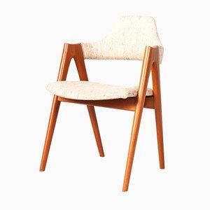 Mid-Century Teak Compass Chair by Kai Kristiansen for SVA Møbler
