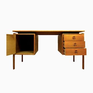 Mid-Century Danish Teak Desk by Arne Vodder for GV Møbler