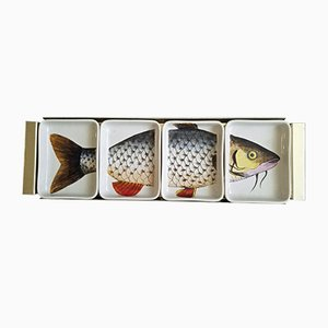 Italian Porcelain Fish Appetizer Tray by Piero Fornasetti, 1960s