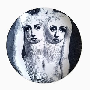Vintage Italian #301 Plate by Piero Fornasetti, 1970