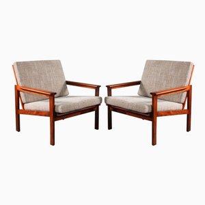 Nr. 4 Palisander Sessel von Illum Wikkelsø für Niels Eilersen, 1960, 2er Set