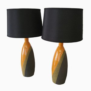 Italian Table Lamps by Ettore Sottsass for Bitossi, 1960s, Set of 2