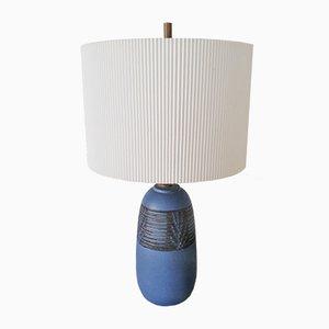 Lámpara pequeña de cerámica azul de Nancy Wickham (Boyd)
