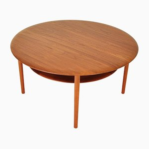 Mid-Century Teak Coffee Table by Peter Hvidt & Orla Mølgaard-Nielsen for France & Søn